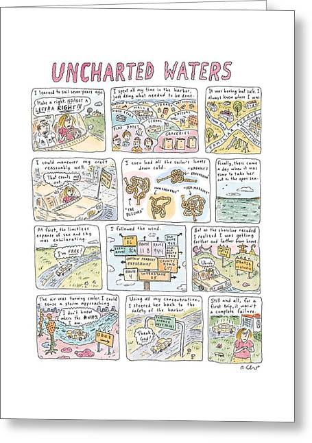 'uncharted Waters' Greeting Card