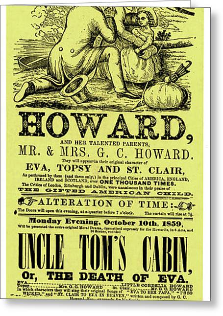 Uncle Tom's Cabin Playbill Greeting Card