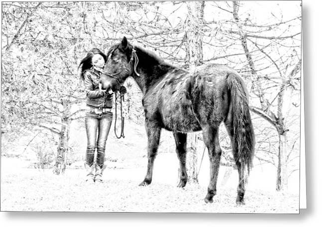 Unconditional Love Greeting Card by Frank Sciberras