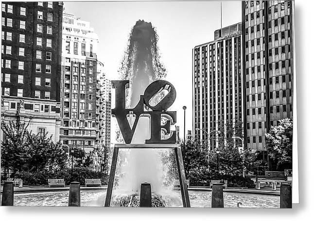 Unconditional Love In Black And White Greeting Card by Bill Cannon