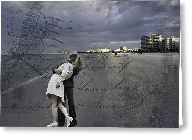 Unconditional Surrender Greeting Card by Mary Koenig Godfrey