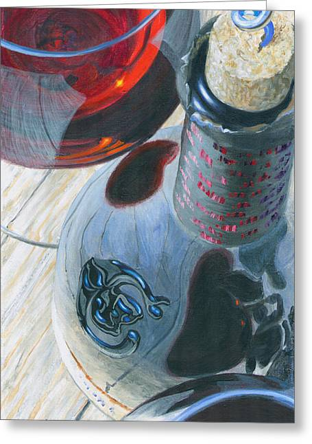 Uncorked Greeting Card by Will Enns