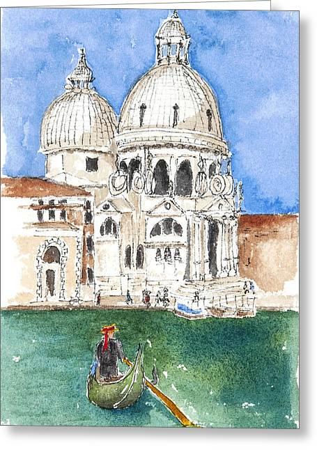 Undeniably Venice Greeting Card by Barbara Wirth