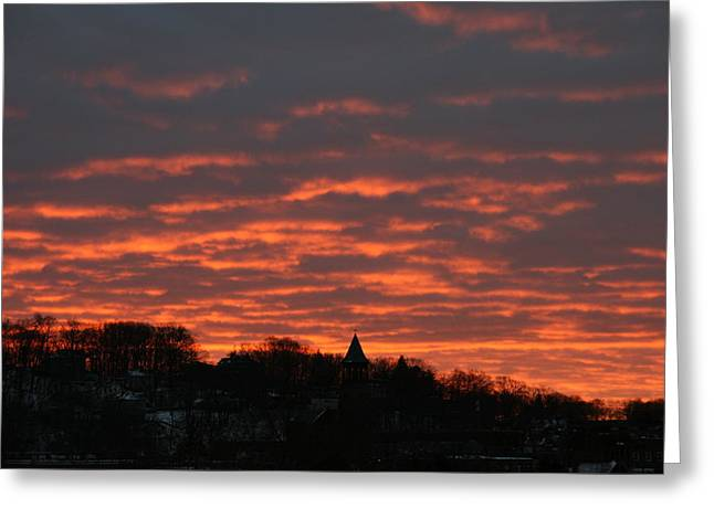 Under A Blood Red Sky Greeting Card by Neal Eslinger