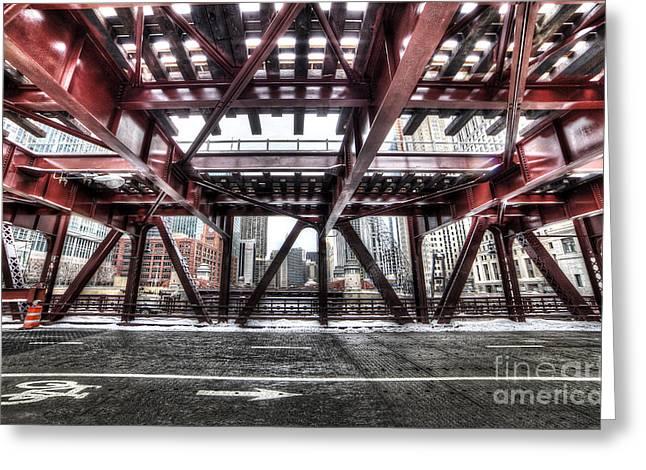 Under A Bridge In Chciago Greeting Card by Twenty Two North Photography
