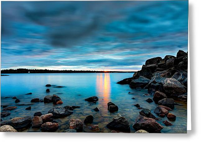 Under A Brooding Sky Greeting Card by Dustin Abbott
