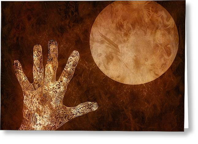 Under A Copper Moon Greeting Card