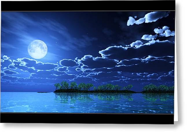 Under A Silvery Moon... Greeting Card