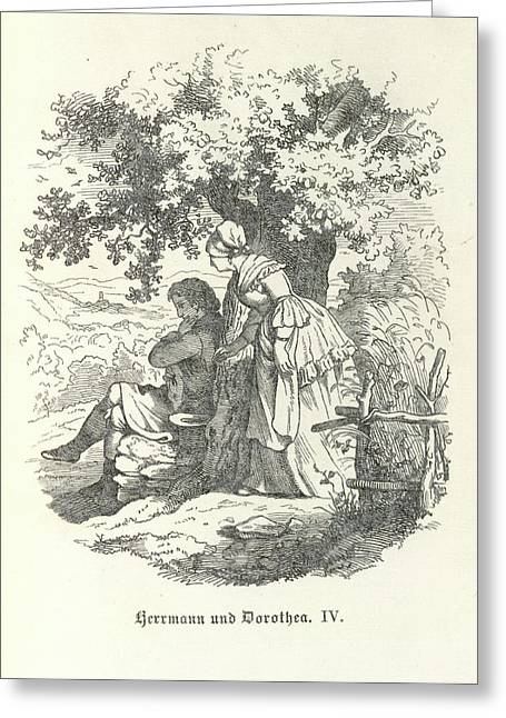 Under A Tree Greeting Card by British Library