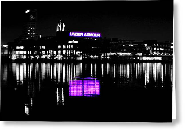 Under Amour At Night - Vibrant Color Splash Greeting Card