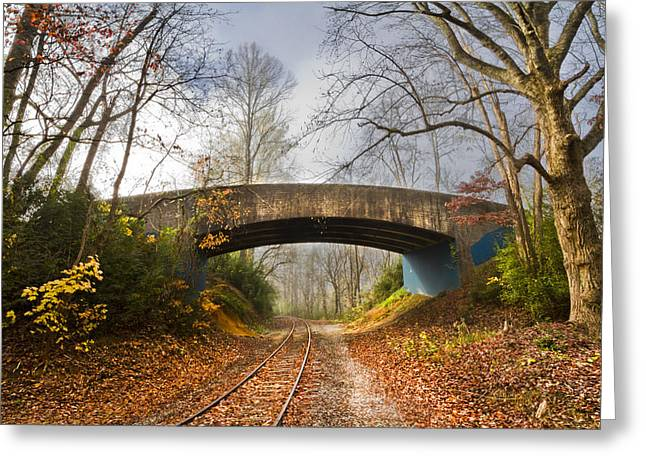 Under And Over  Greeting Card by Debra and Dave Vanderlaan