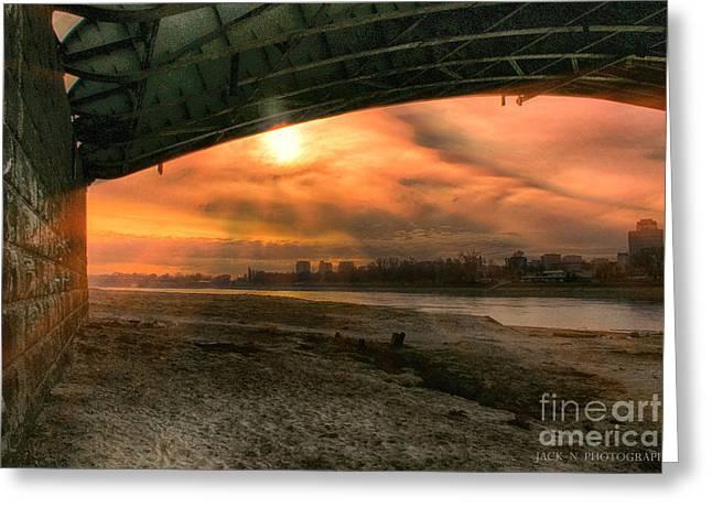Under Bridge Greeting Card by Jacek Niewiadomski