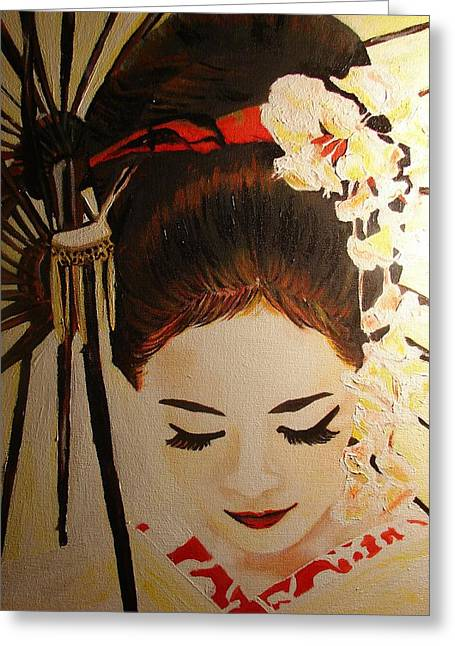 Under Cover Girl Greeting Card by Lorinda Fore