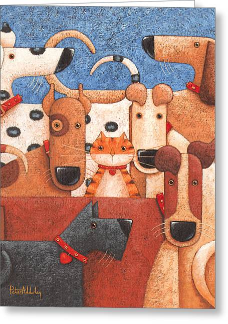 Under Cover Greeting Card by Peter Adderley