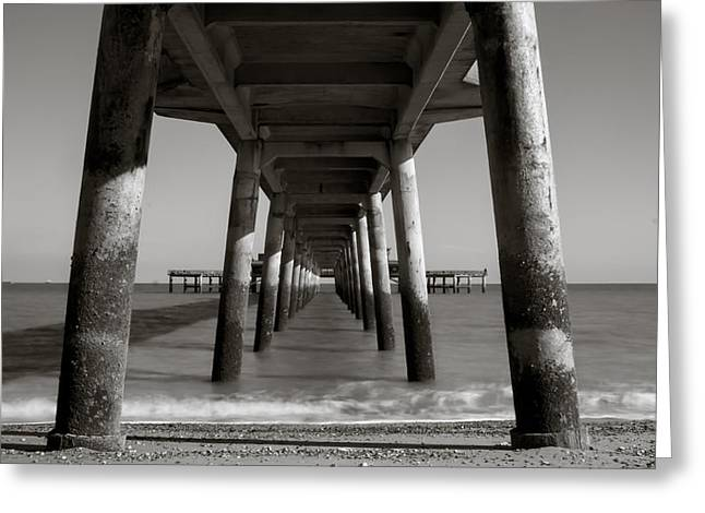 Under Deal Pier Greeting Card by Ian Hufton