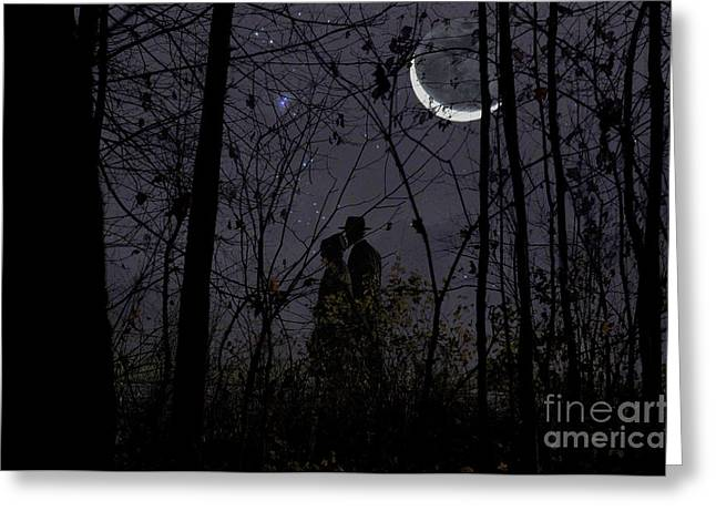Under Moon Greeting Card