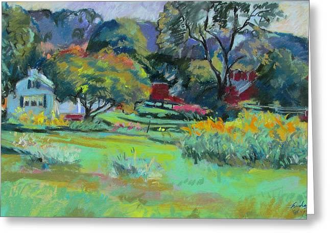 Under Mountain Farm In Summer Greeting Card