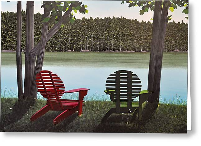 Under Muskoka Trees Greeting Card