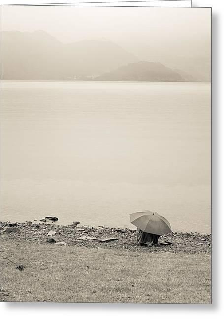 Under My Umbrella Greeting Card by Cristel Mol-Dellepoort
