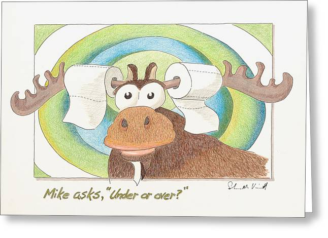 Under Or Over Greeting Card
