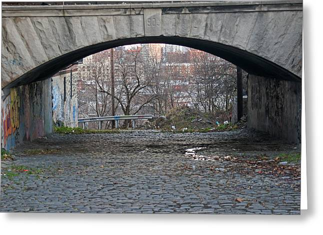 Under River View Park In Hoboken Greeting Card
