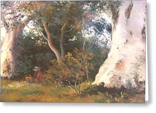 Under The Ancient Gum Tees Greeting Card by Jan Matson