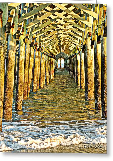 Under The Boardwalk - Hdr Greeting Card by Eve Spring