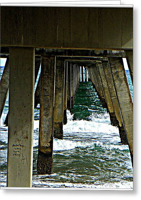 Under The Boardwalk  Greeting Card by Dianne  Lacourciere
