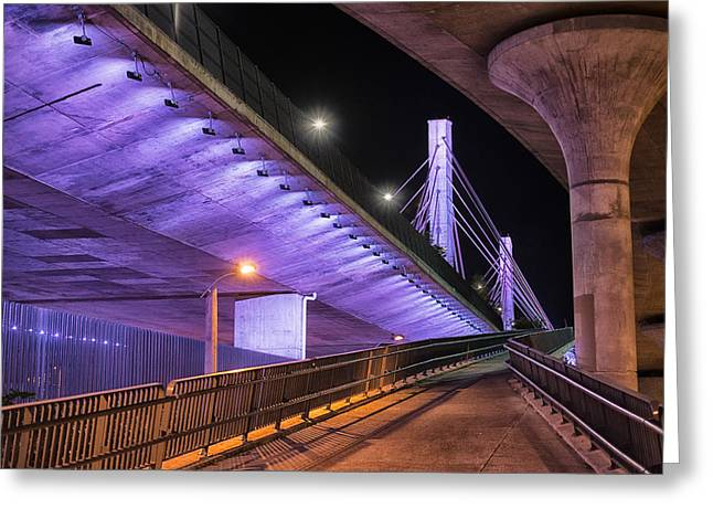 Under The Bridge Greeting Card by Alejandro Tejada