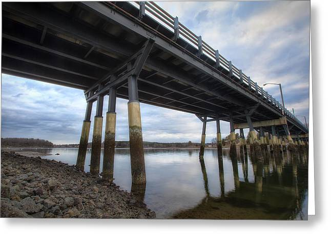 Under The Bridge Greeting Card by Eric Gendron