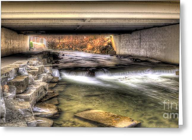 Under The Bridge In Rochester Greeting Card