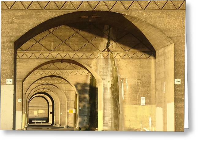 Under The Bridge Greeting Card by Joseph Skompski
