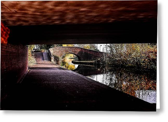 Under The Bridge Greeting Card by Lina Jordaan