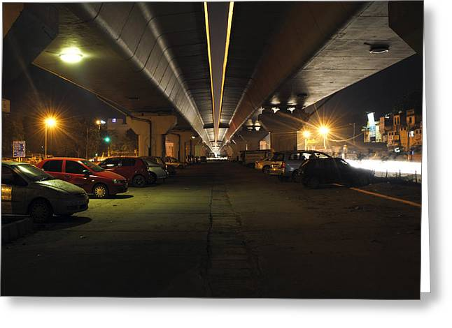 Under The Flyover  Greeting Card by Sumit Mehndiratta
