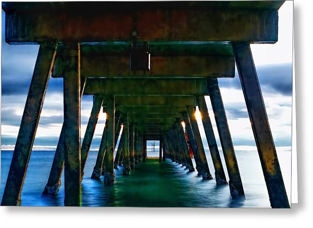 Under The Glenelg Jetty Greeting Card