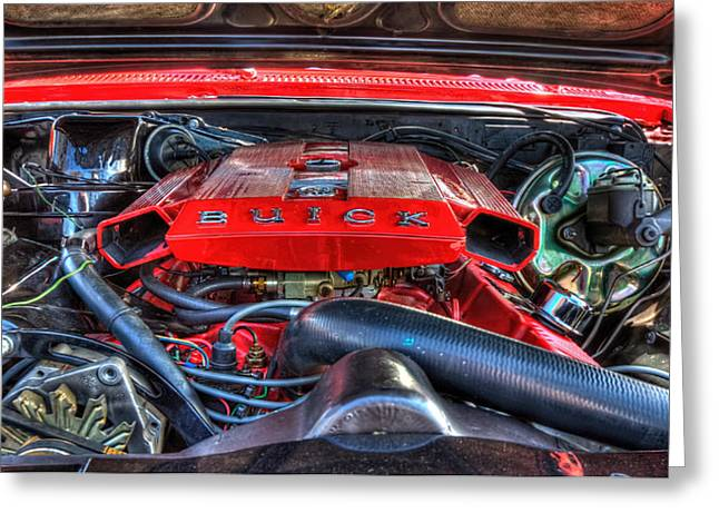 Under The Hood Greeting Card by Amanda Stadther
