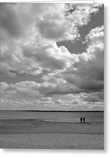 Under The Huge Sky Greeting Card by Arkady Kunysz