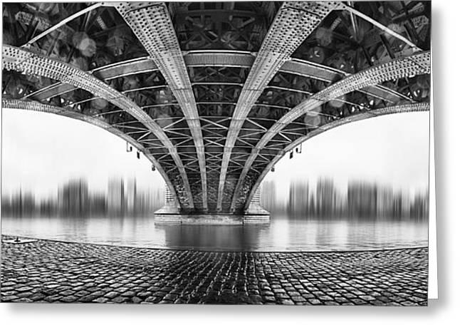 Under The Iron Bridge Greeting Card