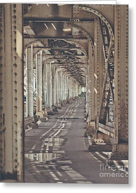 Under The L In Chicago Greeting Card
