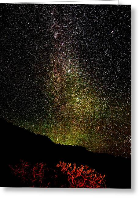Under The Milky Way Greeting Card by Greg Norrell