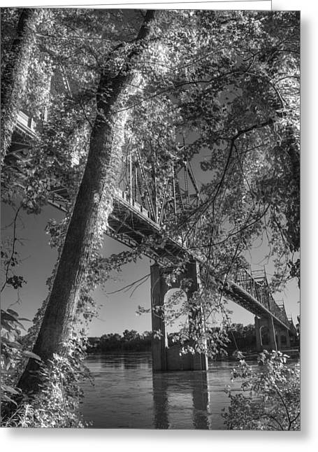 Under The Missouri River Bridge At Washington Greeting Card by William Fields