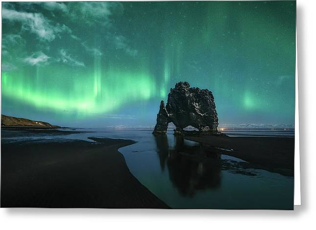 Under The Northern Lights Greeting Card