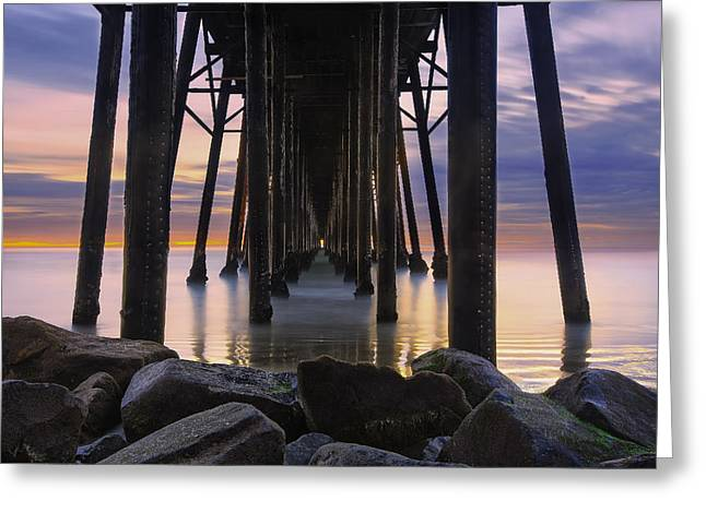Under The Oceanside Pier Greeting Card by Larry Marshall