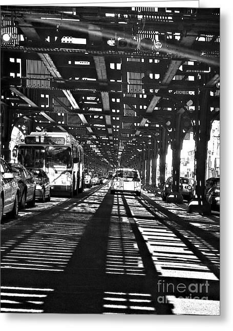 Under The One Train In The Bronx Greeting Card by Sarah Loft