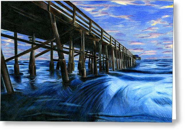 Under The Pier By Carolyn Chu 11th Grade Greeting Card