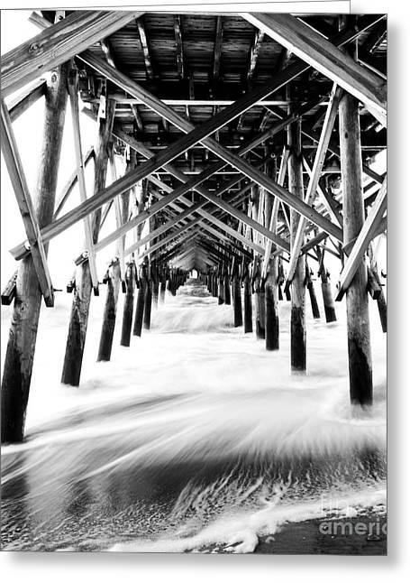 Under The Pier Folly Beach Greeting Card