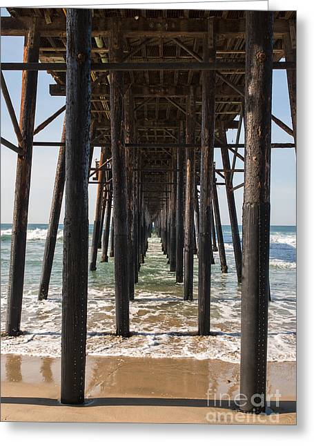Under The Pier In Oceanside Greeting Card by Ana V Ramirez