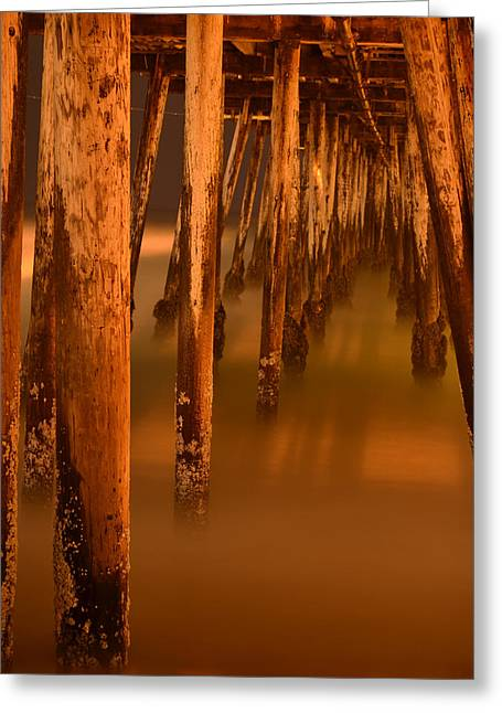 Under The Pier Greeting Card by Mike Schmidt