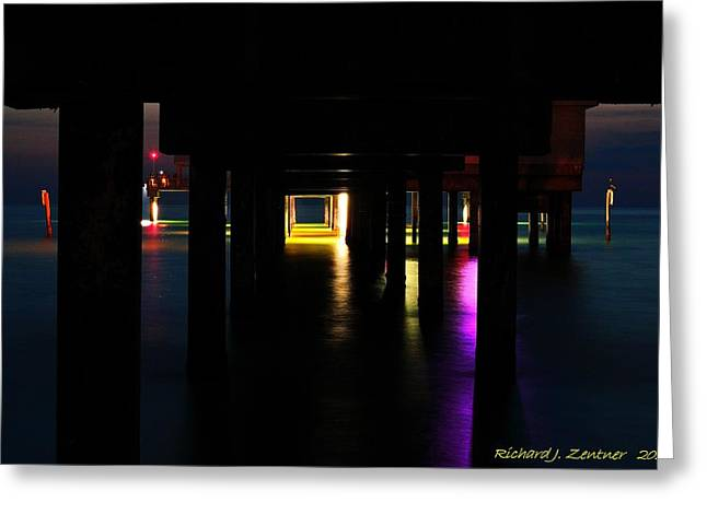 Greeting Card featuring the photograph Under The Pier by Richard Zentner