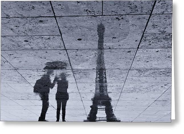 Under The Rain In Paris Greeting Card